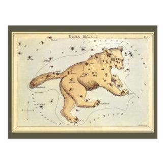 Vintage Astronomie, Ursa Major Konstellation, Bär Postkarte