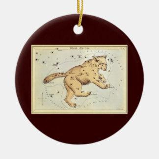 Vintage Astronomie, Ursa Major Konstellation, Bär Rundes Keramik Ornament