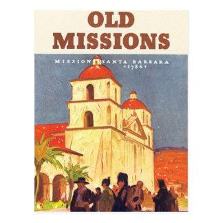 Vintage Aufträge Santa Barbara Postkarte