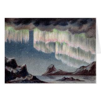 Vintage Aurora Borealis - Nordlichter Karte