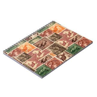Vintage australische Porto-Briefmarken-Sammlung Notizbücher