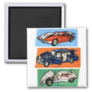 Vintage Auto-Automobil-Modelle Quadratischer Magnet