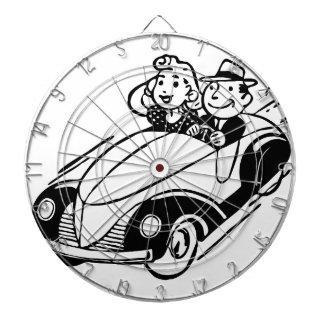 Vintage Auto-Paare Dartscheibe