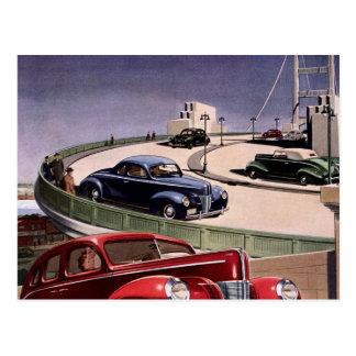 Vintage Autos Postkarte