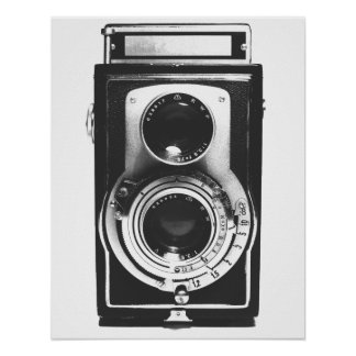 Vintage b&w Kamera Poster