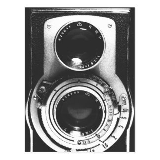 Vintage b&w Kamera Postkarte