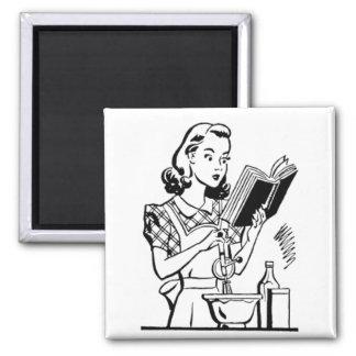 Vintage Backen-Mamma - Mutter-Tag Quadratischer Magnet