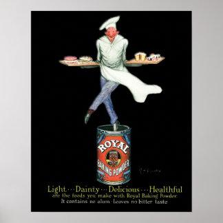 Vintage Bäcker-Gebrauchsgrafik Poster