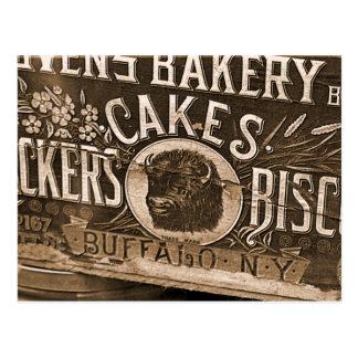 Vintage Bäckerei-Anzeigen-Postkarte Postkarte