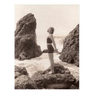 Vintage badenAnzugs-Postkarte - 1766993-4 Postkarte