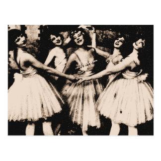 Vintage Ballett-Postkarte Postkarte