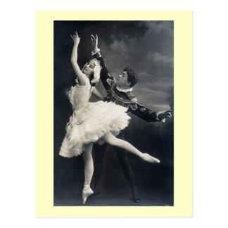 Vintage Ballett-Tänzer Postkarten