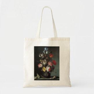 Vintage barocke Blumen durch Balthasar van Der Ast Tragetasche