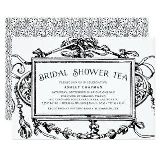 Vintage barocke Brautparty-Tee-Einladung 12,7 X 17,8 Cm Einladungskarte
