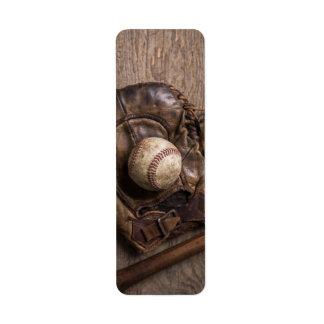 Vintage Baseball-Ausrüstung