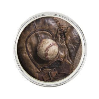 Vintage Baseball-Ausrüstung Anstecknadel