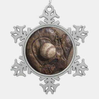 Vintage Baseball-Ausrüstung Schneeflocken Zinn-Ornament