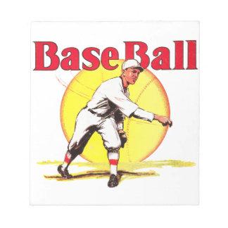 Vintage Baseball-Grafik Notizblock