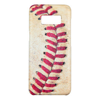 Vintage Baseball-rote Stich-nahes hohes Foto Case-Mate Samsung Galaxy S8 Hülle