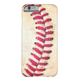 Vintage Baseball-rote Stich-nahes hohes Foto Barely There iPhone 6 Hülle