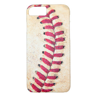 Vintage Baseball-rote Stich-nahes hohes Foto iPhone 8/7 Hülle