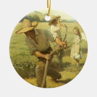Vintage Bauern, zurück zu dem Bauernhof durch NC Keramik Ornament