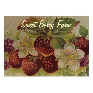 Vintage Beeren Mini-Visitenkarten