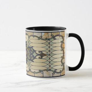 Vintage beflecktes Glas-Entwurfs-Tasse Tasse