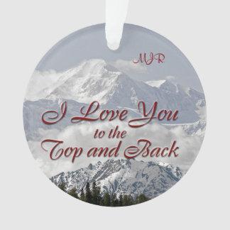 Vintage Berge: I Liebe Sie Ornament