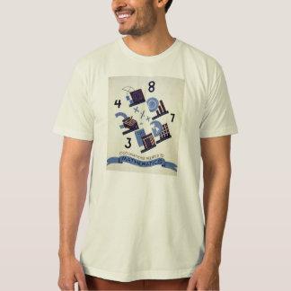 Vintage Berufe bezogen auf Mathematik-Plakat T-Shirt