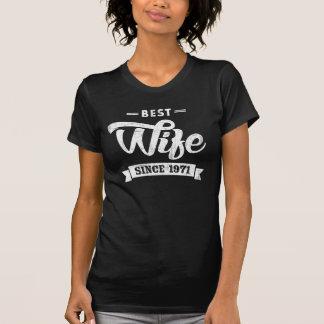 Vintage beste Ehefrau seit 1971 T-Shirt