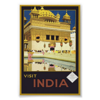 Vintage Besuchs-Indien-Reise-klassische Poster