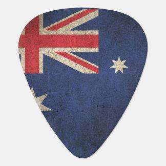 Vintage beunruhigte Flagge von Australien Plektron