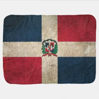 Vintage beunruhigte Flagge von Dominikanischer Babydecke