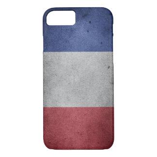 Vintage beunruhigte Flagge von Frankreich iPhone 8/7 Hülle