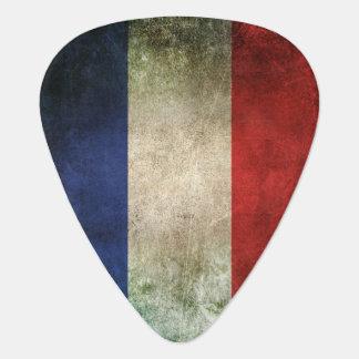 Vintage beunruhigte Flagge von Frankreich Plektrum