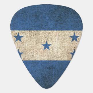 Vintage beunruhigte Flagge von Honduras Plektron