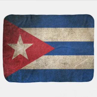 Vintage beunruhigte Flagge von Kuba Babydecke