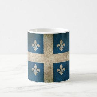 Vintage beunruhigte Flagge von Quebec Kaffeetasse