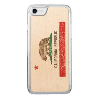 Vintage beunruhigte Kalifornien-Flagge Carved iPhone 8/7 Hülle