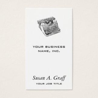 Vintage beunruhigte Underwood-Schreibmaschine Visitenkarte