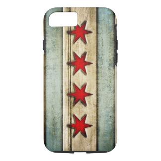 Vintage beunruhigter hölzerner Blick Chicagos iPhone 8/7 Hülle