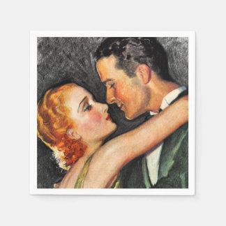 Vintage bezaubernde Paare Hollywood Papierserviette
