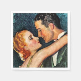 Vintage bezaubernde Paare Hollywood Serviette