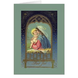 Vintage biblische Mary- u. Jesus-Weihnachtskarte Karte