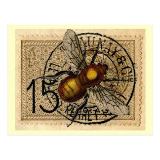 Vintage Bienen-Collage Postkarten
