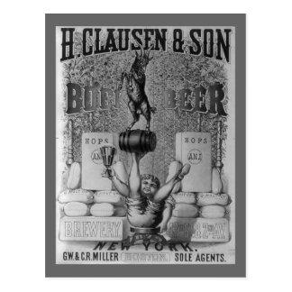Vintage Bier-Anzeige Postkarten
