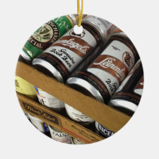 Vintage Bier-Dosen-Verzierung Keramik Ornament