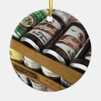 Vintage Bier-Dosen-Verzierung Rundes Keramik Ornament