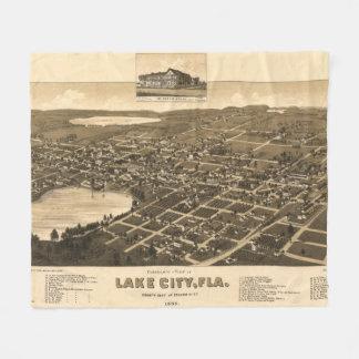 Vintage bildhafte Karte der See-Stadt Florida Fleecedecke